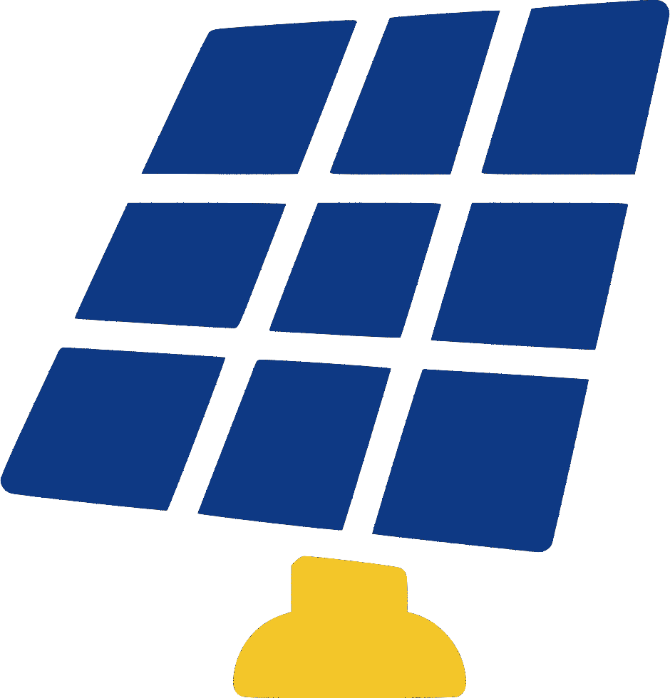 solar panel cartoon